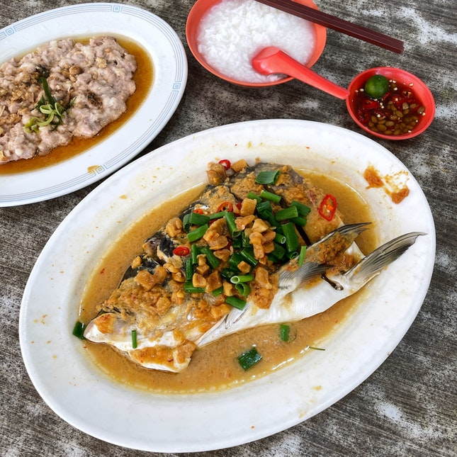 Steamed Song Fish Head in Bean Paste (Market Price)
