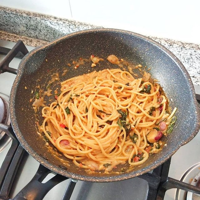One Pan Mala Pasta for today!!!