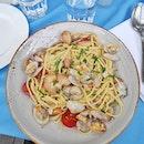 Linguine Alle Vongole ($26) expensive pasta lololol.