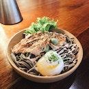 Salmon Mentaiko with Buckwheat Soba — $10.90