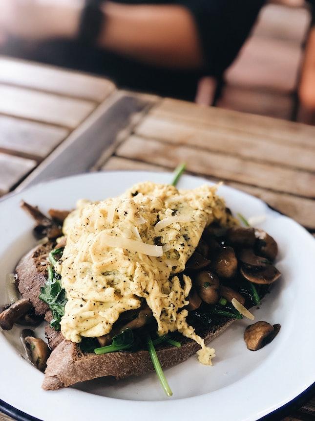 Truffle Mushroom Scramble Eggs — $22.90