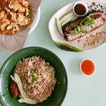 Roast Pork and Charsiew Platter + Hakka Noodles — $9/$2.20