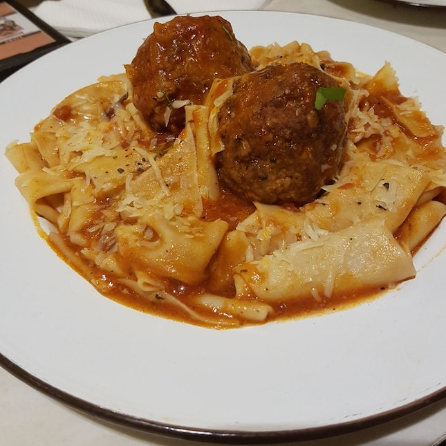 Handmade Italian Meatball with Pappardelle