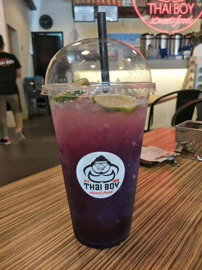 Thai Blue Tea With Lime (RM5.90)
