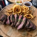 Wagyu Rump With Curly Fries ($25)
