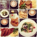 #happymeal w/ #happylunchkaki #tableful of #food #coffeeart #instafood #instadrink #foodporn #foodlover #burpple #latergram #8stanleystreet #revisit