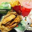#checkingout #whatpeople #crazedabout 🍔 #mcdonalds #locallyinspiredmenu #nasilemakburger #coconutpie #bandungmcfizz #sedap #localfavourites #justforyousingapore #notabadidea #thistime #instafood #instadrink #instadessert #foodporn #foodlover #burpple #instaweekend #singaporefoodfestival #mcdonaldssingapore #mcdonaldssg #felzfooddiary