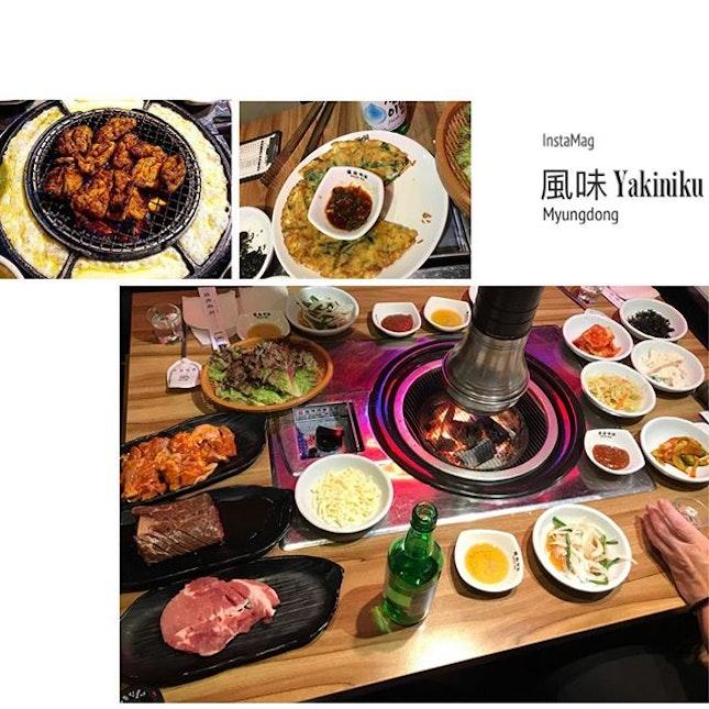 #signature #koreancuisine #koreanbbq #chessybbqchicken #seafoodpancake #musteat x #soju #fatdieme #instafood #instadrink #foodporn #foodlover #burpple #instalongweekend #instatravel #風味明洞 #yakinikumyungdong #seoul #southkorea #felzfooddiary #felztravelfootprint2018 #busanseoulday8 #kr