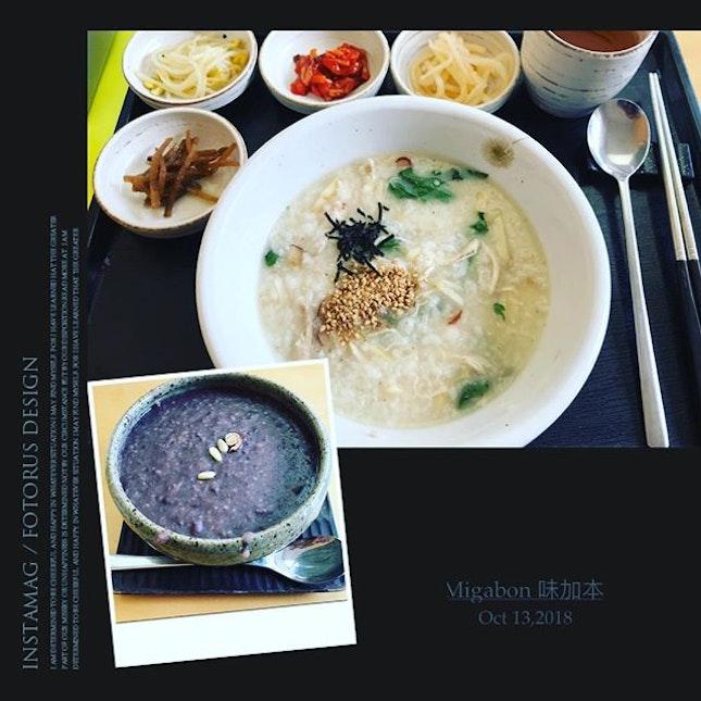 #startthedayright w/ #heartymeal #ginsengchickenporridge #redbeanporridge #yummilicious 🍲 #servingforone #dontjudgeme #authentic #koreancuisine #instafood #foodporn #foodlover #burpple #instalongweekend #instatravel #味加本 #migabon #seoul #southkorea #felzfooddiary #felztravelfootprint2018 #busanseoulday9 #kr