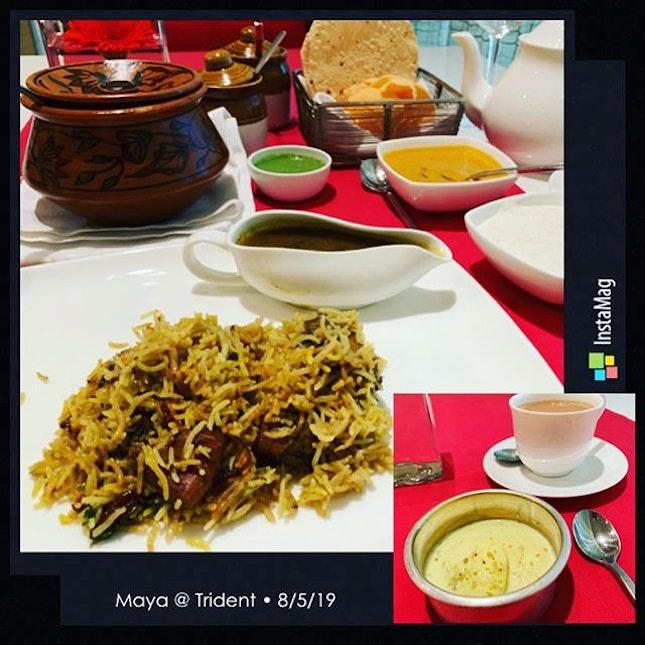 #authentictaste #kachigoshtki #lamb #biryani #rasmalai #yummilicious #indiancuisine🍴 #whatthelocalseat #wherethelocalsgo #instafood #foodporn #foodlover #burpple #instalunch #instatravel #maya #tridenthotel #bkc #mumbai #india #in #felzfooddiary #felztravelfootprint2019 #felzworktrip #felzinmumbai
