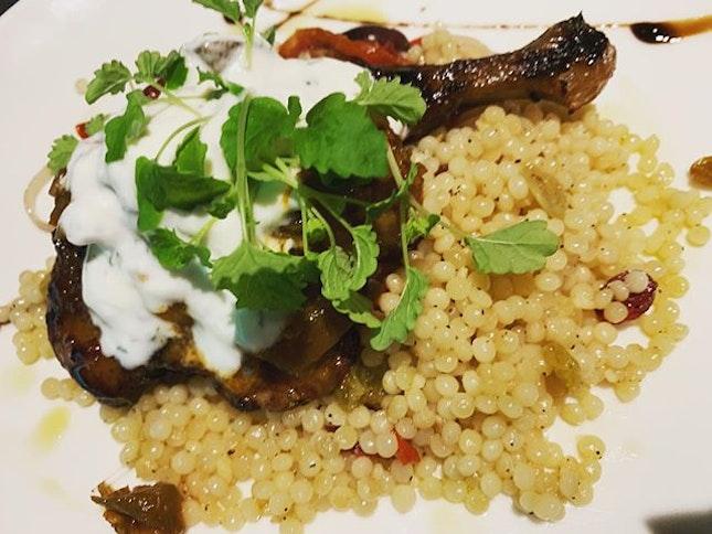 #alright #tgif #roastedchickenleg #couscous 🍗 #instafood #foodporn #foodlover #burpple #theprovidore #downtowngallerysg #felzfooddiary