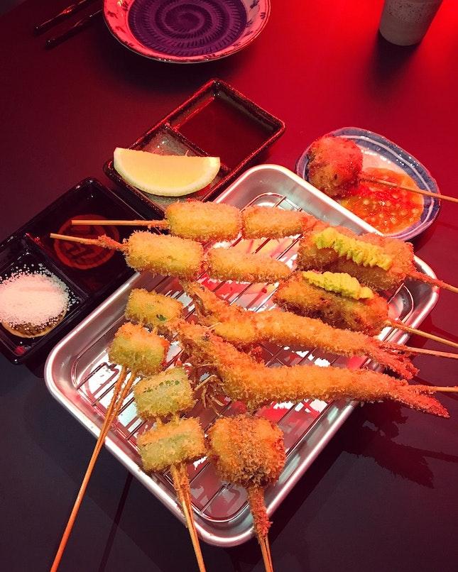 A Feast Of Kushikatsu
