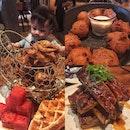 Fried Chicken & Smoked Pork Ribs
