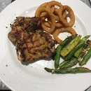Lemon Chicken With Onion Rings & Asparagus
