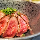 A4 Wagyu from Kagoshima, laid on top of perfectly cooked rice ($21.90).