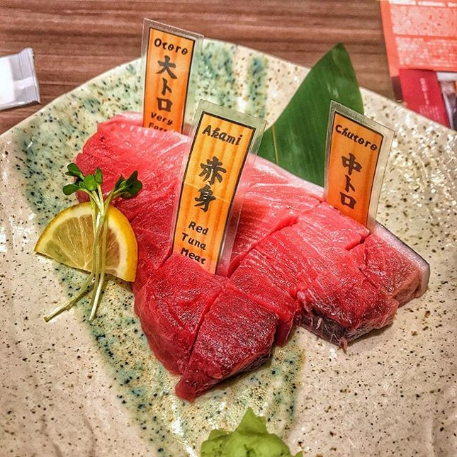 There's sashimi, then there's a just an entire slab of tuna on your plate 😏