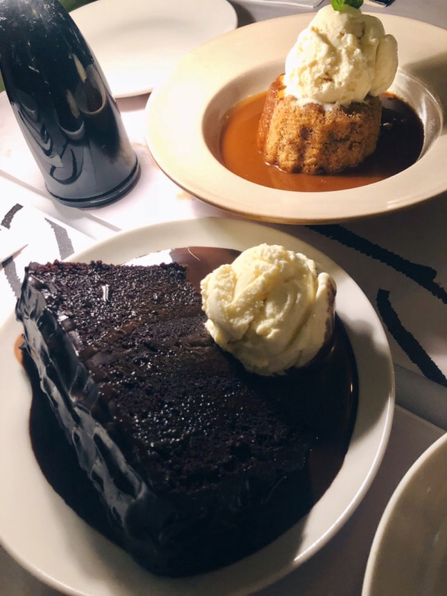 Double Chocolate Blackout Cake, Sticky Date Pudding