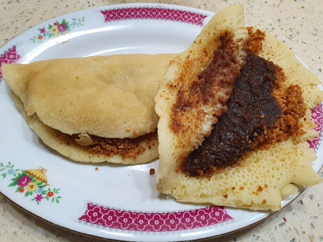 $1 Unique Mixed Pancake - Peanut & Red Bean