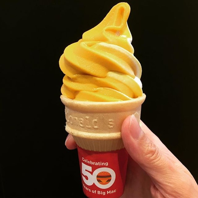 McDonald's $1 Local Favourite Sweet Corn Ice Cream In A Cone 🌽🍦Is Back! Yippee!