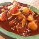 Hainanese Pork Chop 猪肉排 & Fried Egg With Sausage 蜡肠煎蛋 @ Hock Sin Kee 福星居, Blk 120 Bukit Merah Lane 1, Alexandra Village Food Centre #01-02.