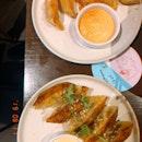 Veggie Dumplings And Fried Dumplings