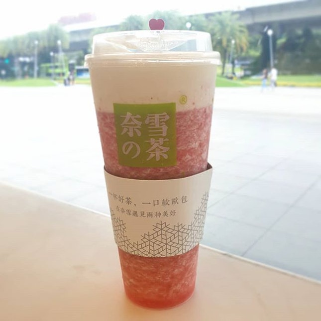 Supreme Cheese Strawberry Tea - This was a LIFESAVER after hours under the sweltering sun!