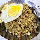 Sambal fried rice($4) plus egg($0.50)