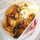 Pan-Fried Curry Leaf Fish Rice($4) plus Egg($0.50)