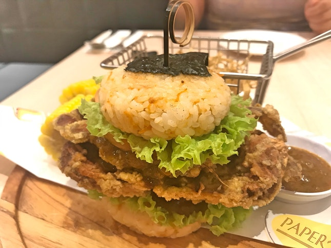 Soft Shell Crab Sushi Burger