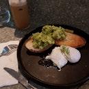 Poached eggs + Sourdough avocado toast