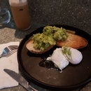 Poached eggs + Sourdough avocado toast