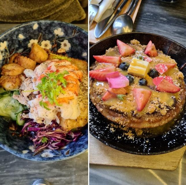Bounty of the Sea Donburi with Aburi Boston Lobster Tail + Buckwheat Pancakes