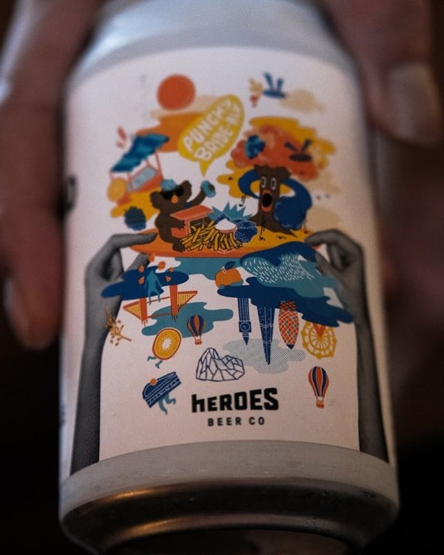 He pulled no punches with this @heroesbeerco Munchy and Poshy Bride-Ale, literally.