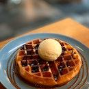 Ice Cream With Waffle