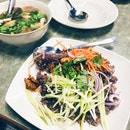 Tom Yum Soup, Olive Fried Rice, Fishcakes