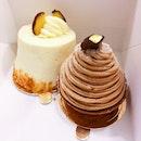 Sweet Potato Cake [$5.90] and Mont Blanc [$7]