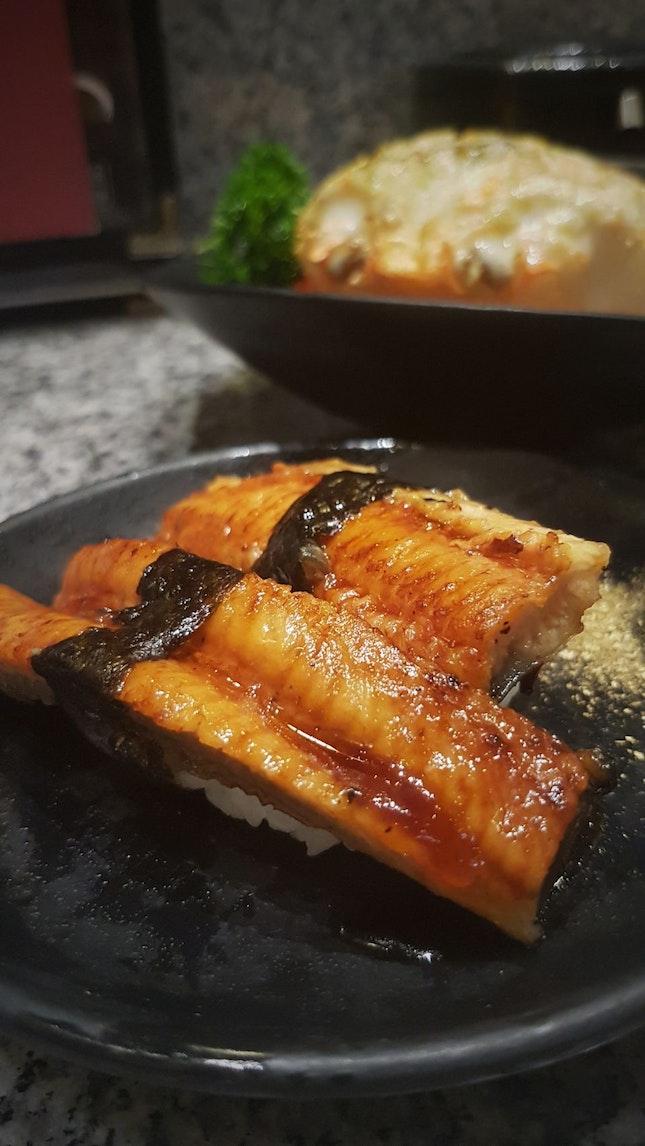 Roasted Eel Sushi ($3.20)