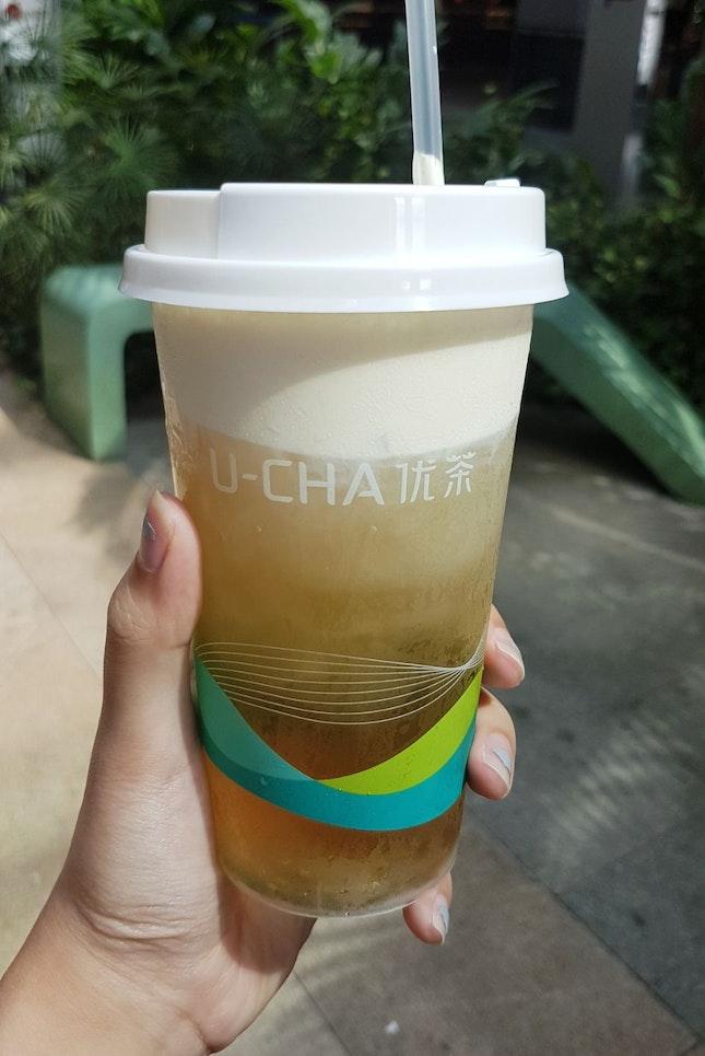 Cheese Sakura Oolong Tea ($4.20)