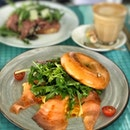Smoked Salmon & Scrambled Bagel + Latte ($11.90 Fave)