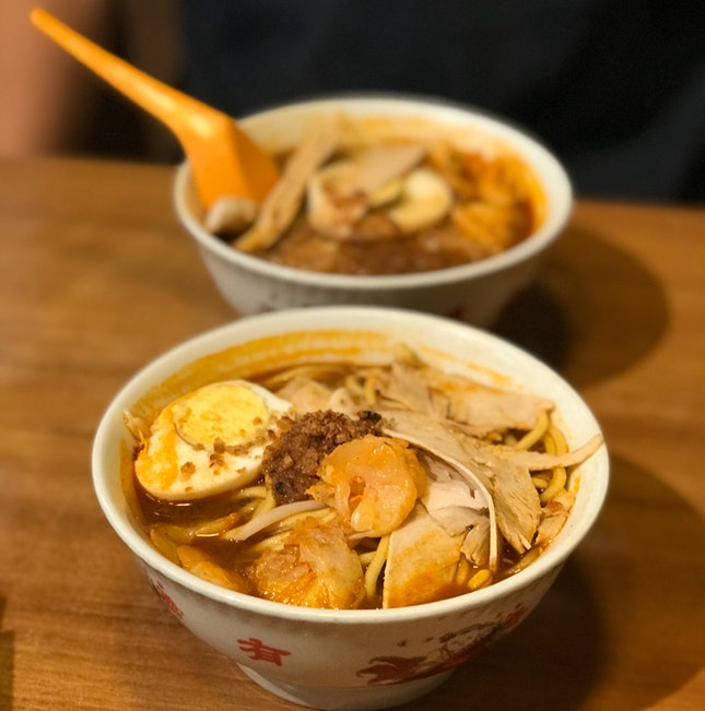 Prawn Mee Soup (Small $4)
