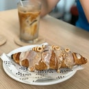Earl Grey Glazed Croissant Topped With Hazelnuts ($4.50 Or 2 For $8)