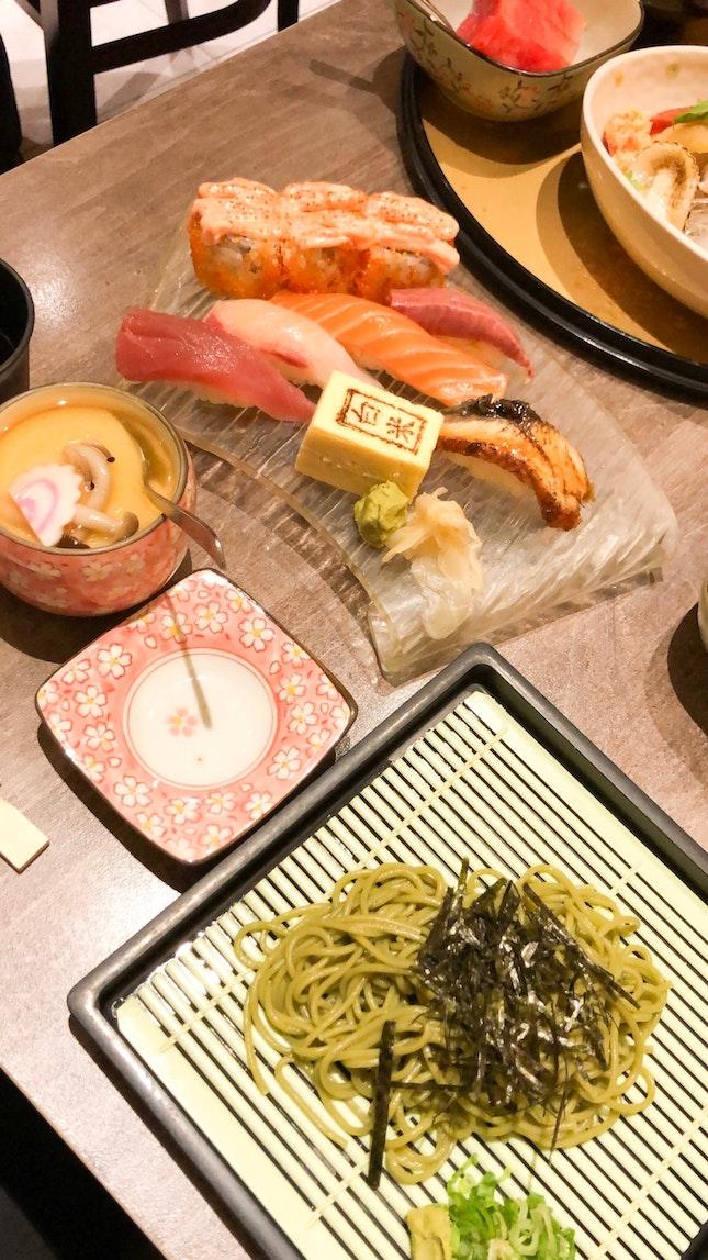 Sushi Soba Gozen $26.80
