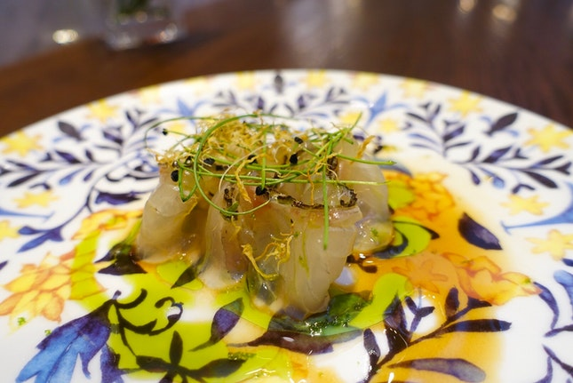 Sea bream with Laksa Oil And Lime Gel (Part Of 3-Course Set Lunch $58)