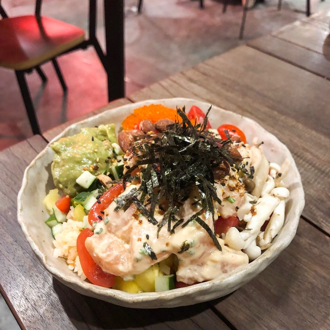 Ginger Miso Salmon Poke Bowl $17