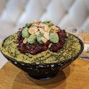 Matcha Mochi (Rice cake) Bingsu