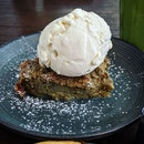 Hoijicha Bread and Butter Pudding ($14++)