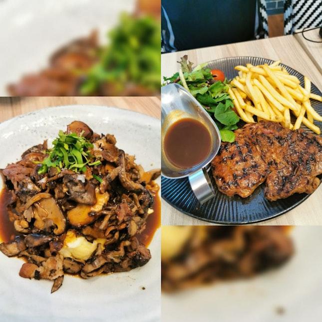 Braised beef cheeks and Steak!
