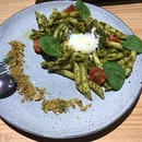 Traditional Pesto Pasta With 63 Degree Egg