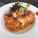 Chili Crab Pasta ($14)