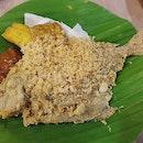 Ikan bawal penyet (with rice) - $9.90!